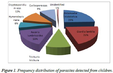 Study of Intestinal Parasitosis among School Children of